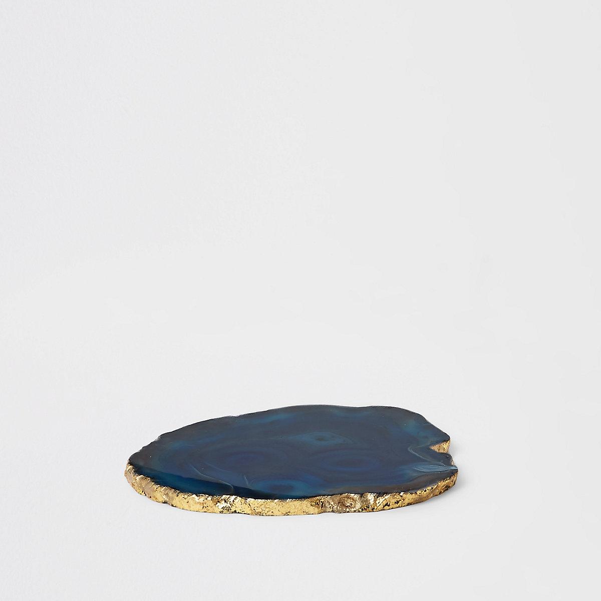 Sous-verre agate bleu