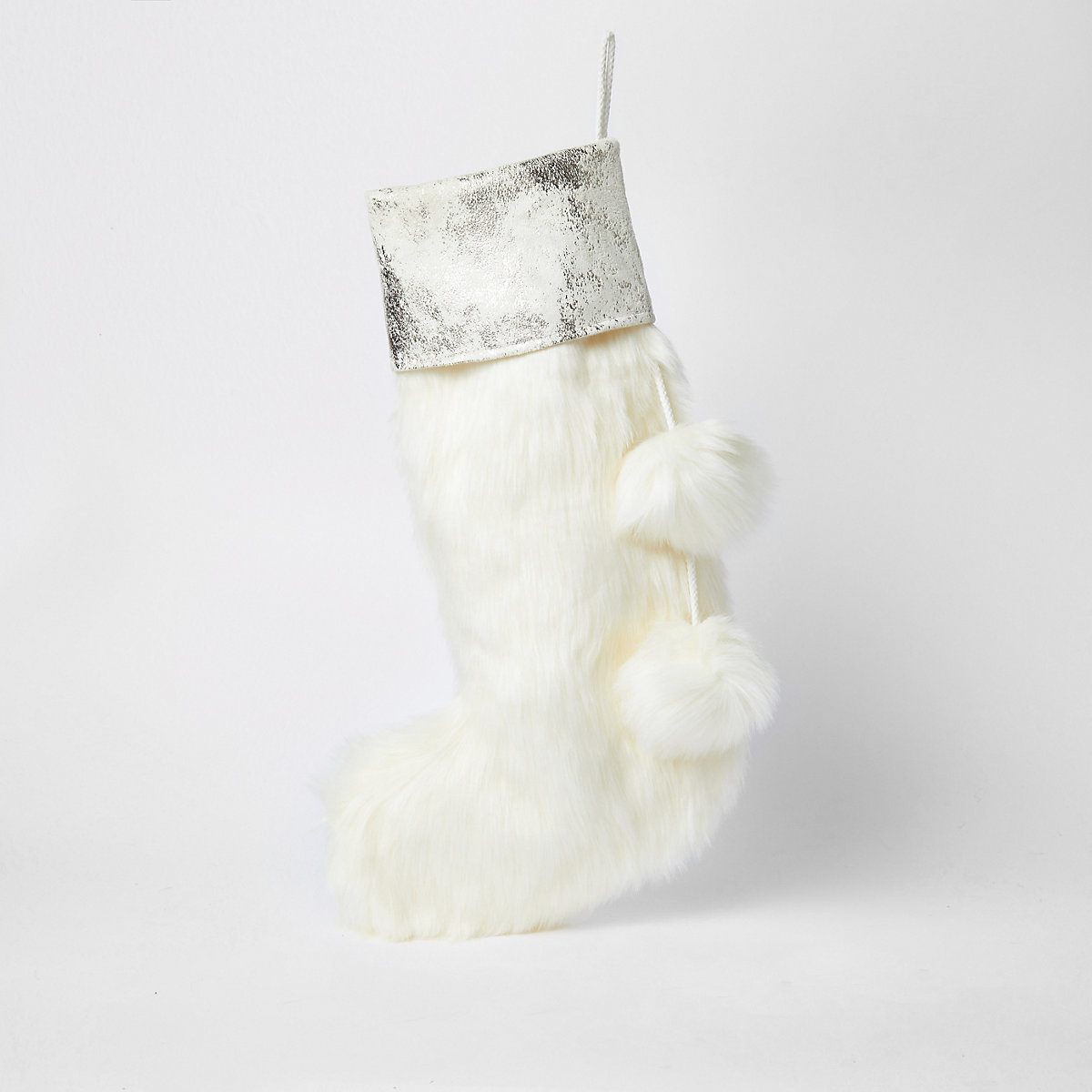 Cream Christmas stocking