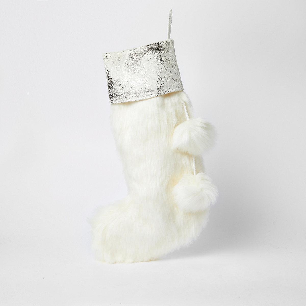 Chaussette de Noël crème