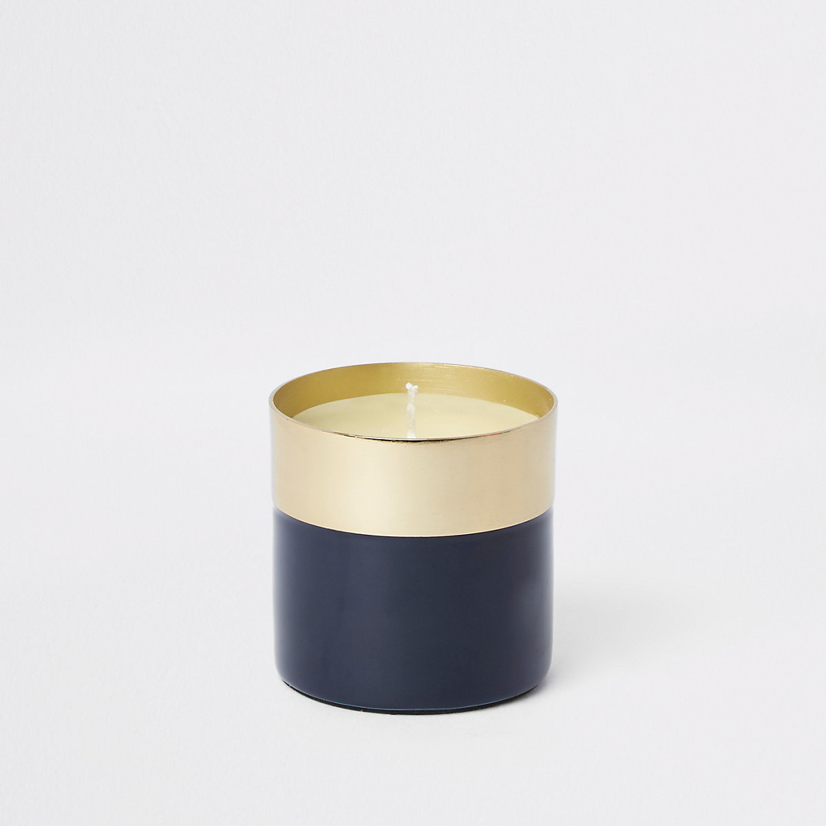 Blue vanilla small candle