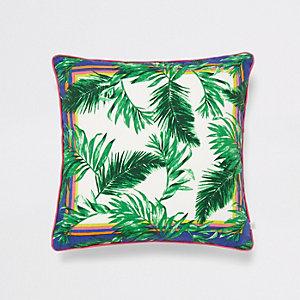 Groen kussen met jungleprint