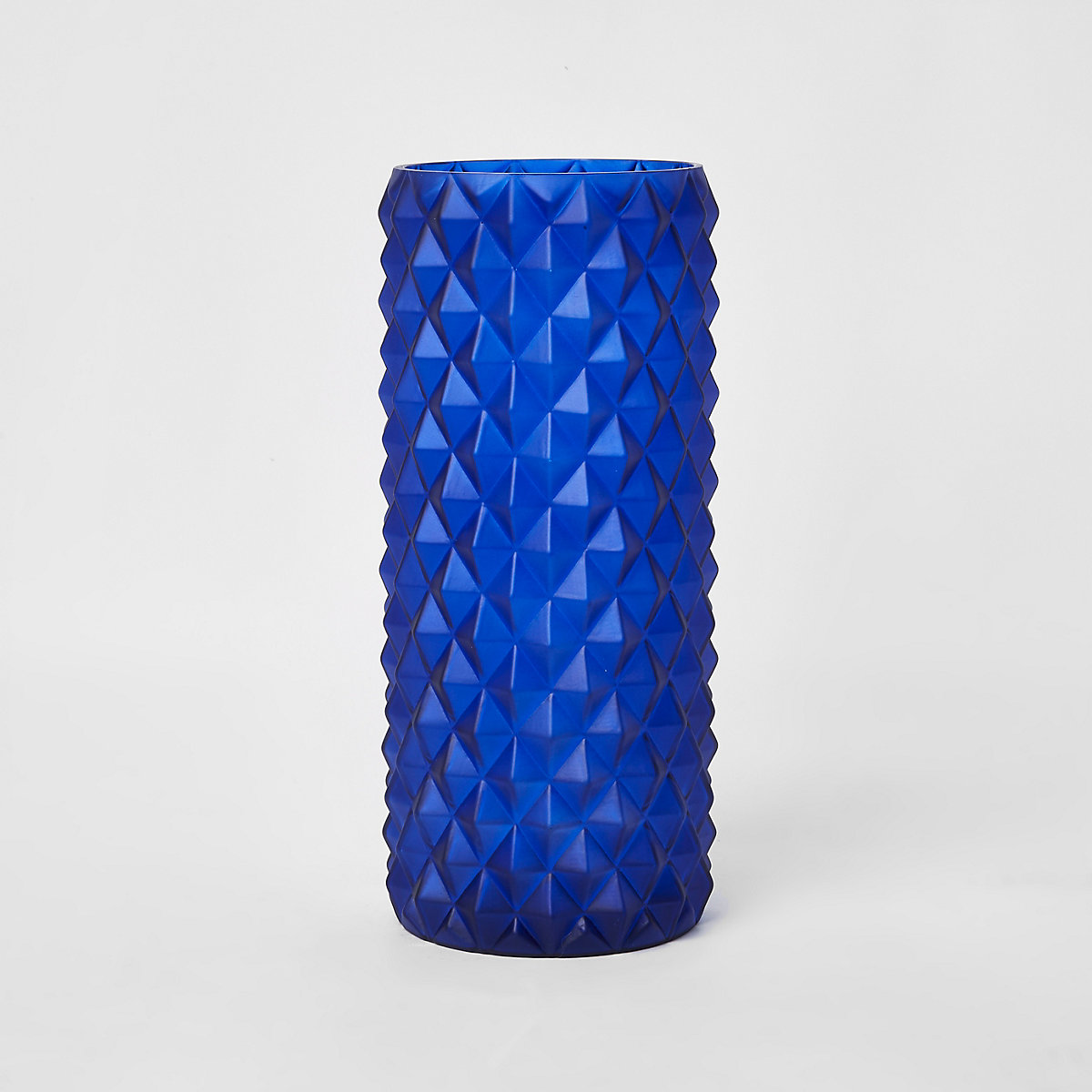 Large blue textured vase