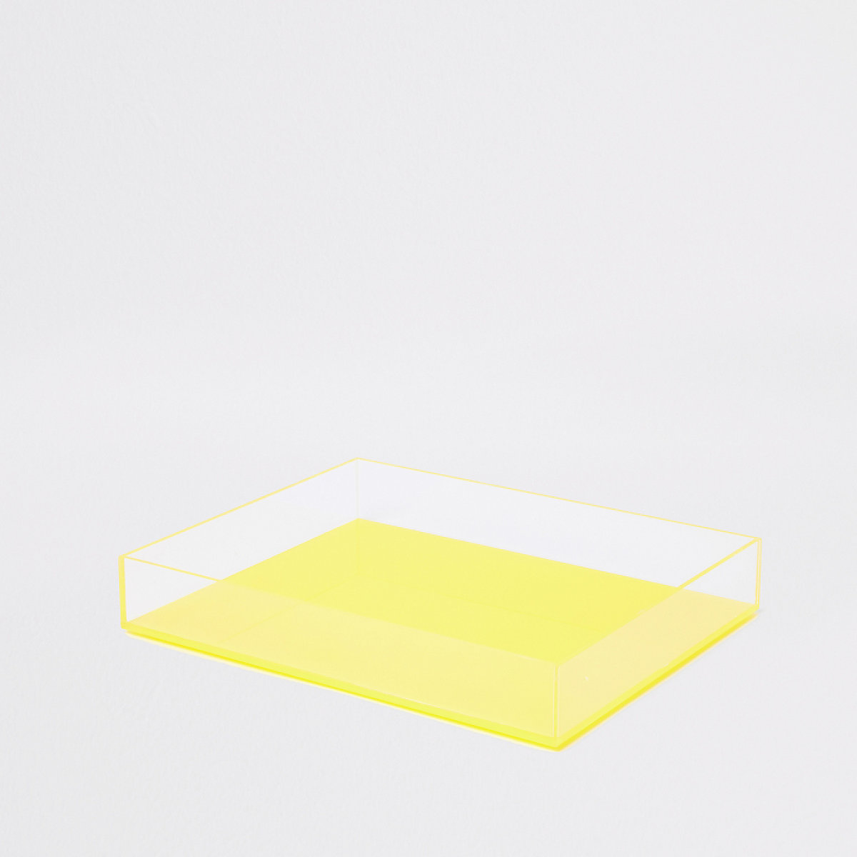 Small yellow acrylic tray