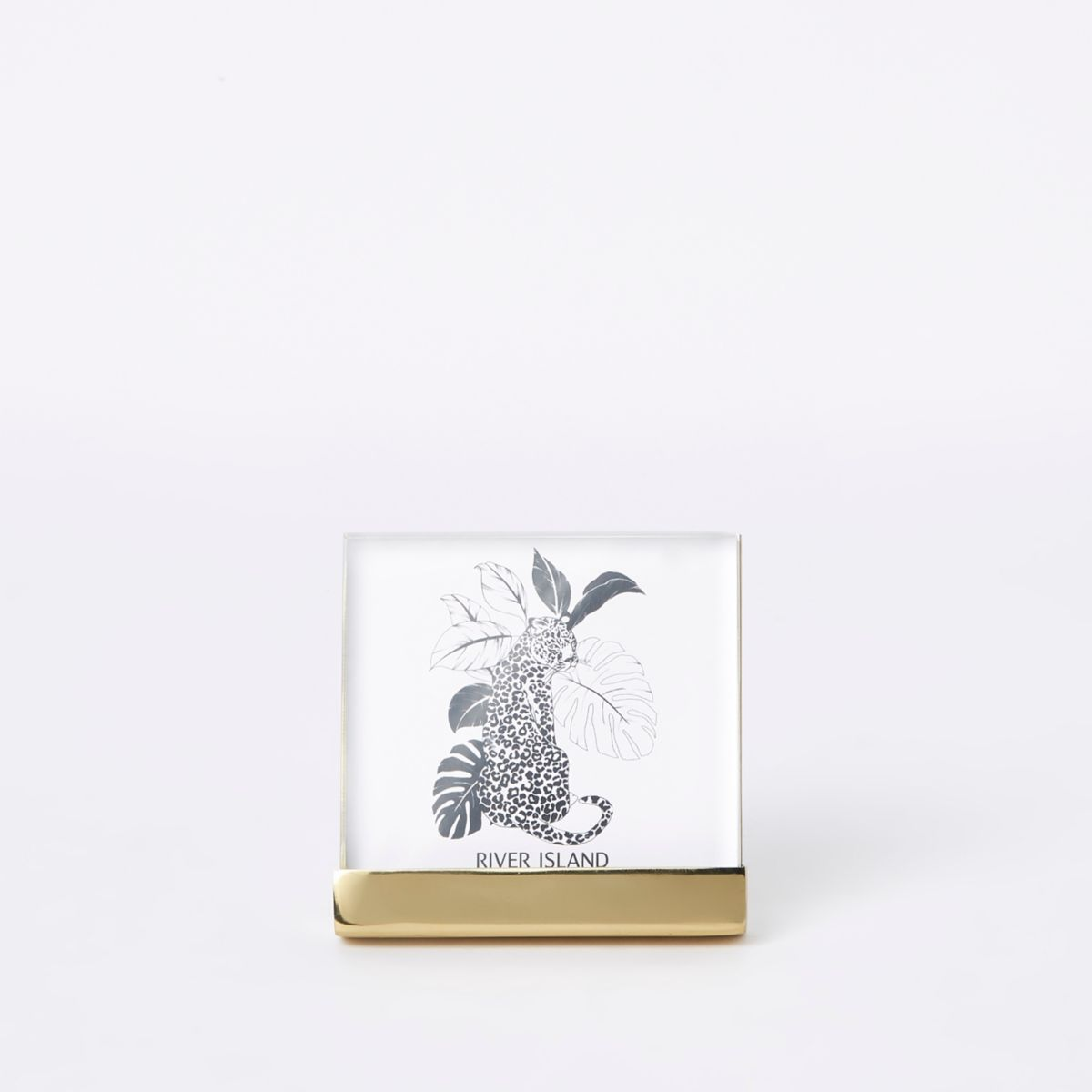 Gold perspex small photo frame 4x4 inches