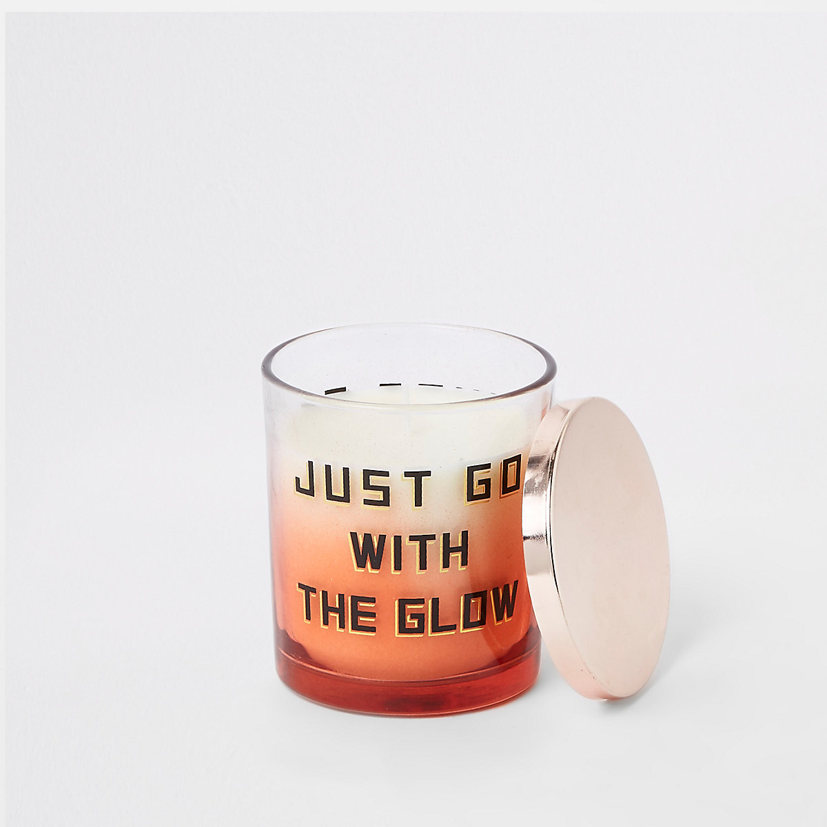 White vanilla 'just go with the glow' candle