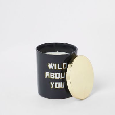 Black Vanilla Wild About You Candle by River Island