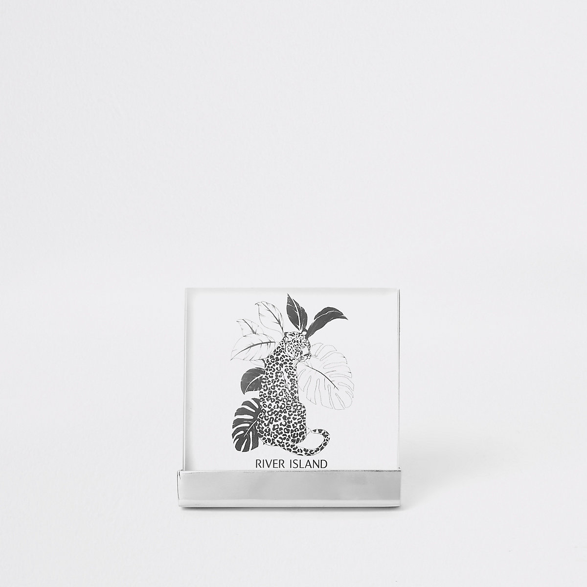"""Silver 4x4"""" small perspex photo frame"""