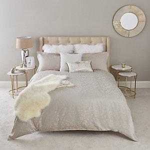 Parure de lit king en jacquard à motif léopard rose