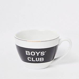 Black 'Boys club' bowl mug