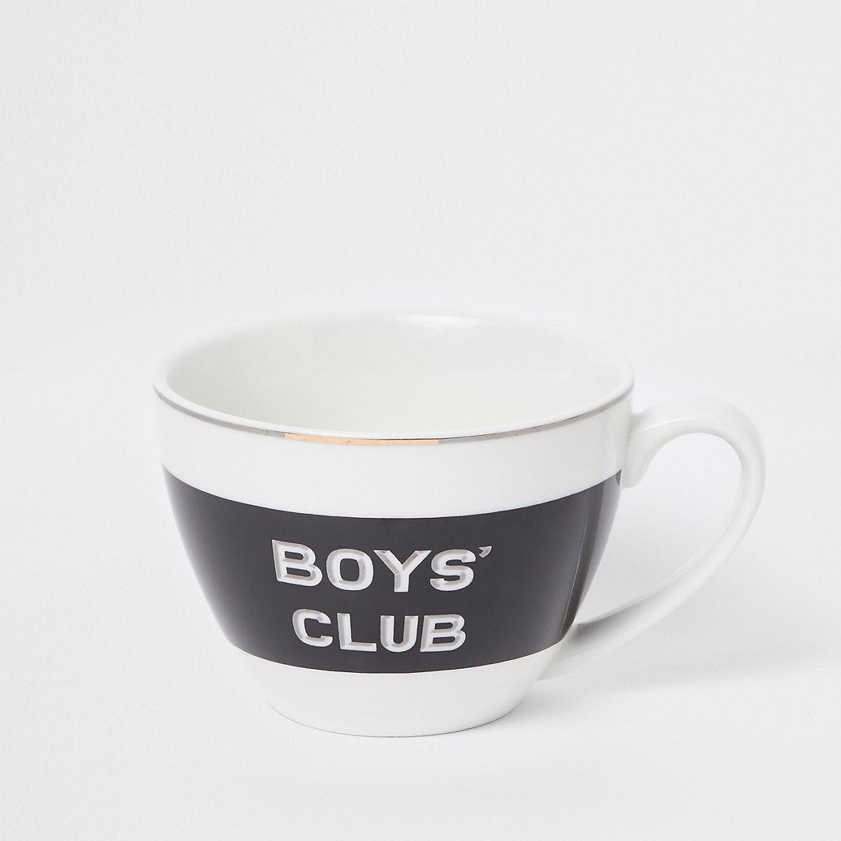 Black 'Boys club' bowl mug
