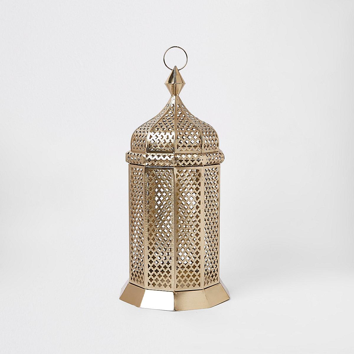 Gold large floor lantern