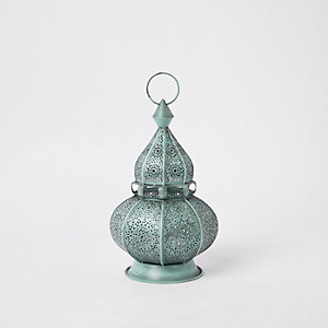 Blue decorative genie lantern