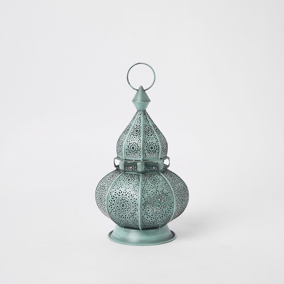 Blue decorative genie lantern