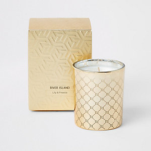 Orange & cedarwood scented monochrome candle
