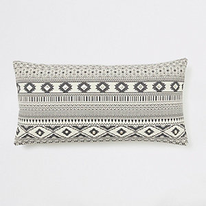 Cream geo aztec long cushion