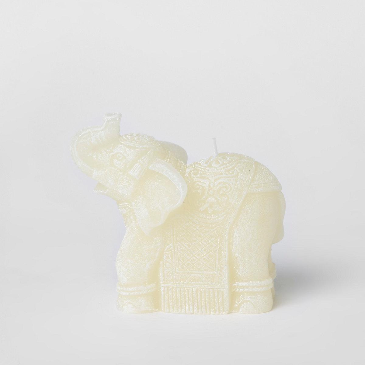 White elephant wax candle