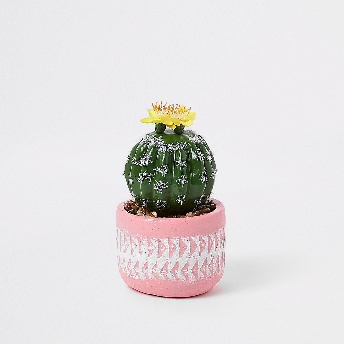 Pink small artificial succulent pot