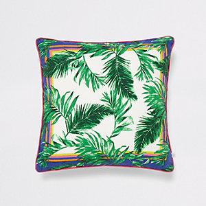 Taie de coussin à imprimé jungle verte