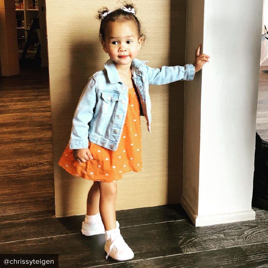 Luna Stephens orange dress