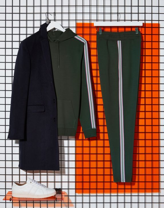 Black smart overcoat outfit