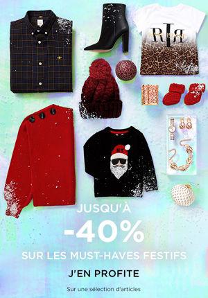 Jusqu'à -40 % sur les cadeaux