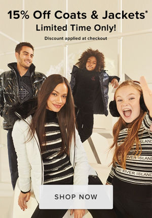 15% off coats and jackets